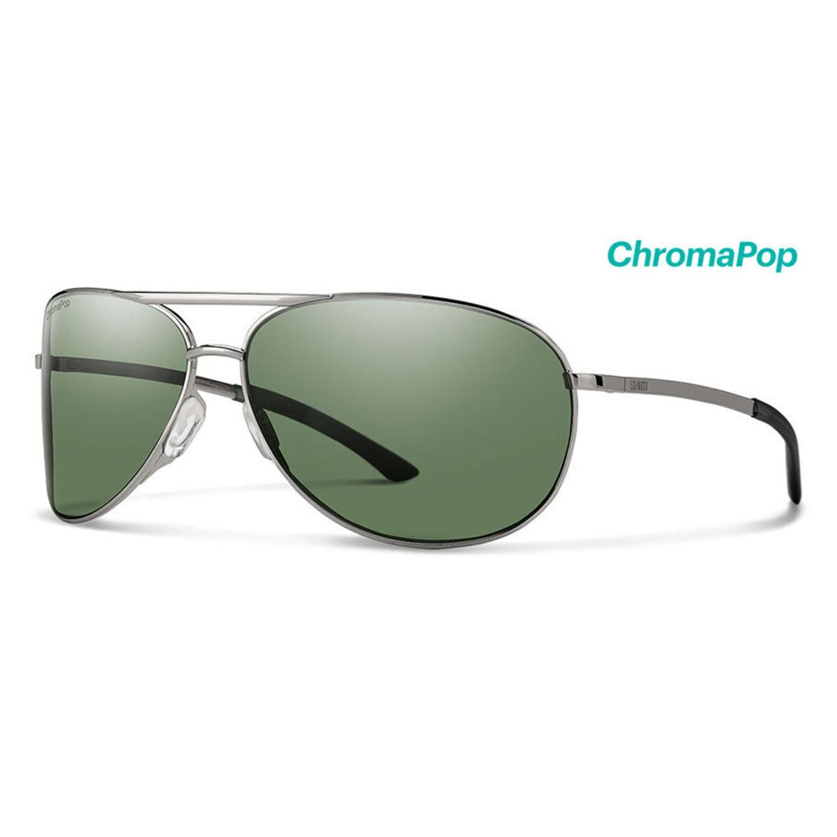 Smith Optics Serpico 2 Sunglasses Chromapop Polarized Gray Green - Gunmetal Frame