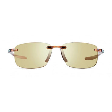 Revo Unisex Descend N Rectangle Sunglasses Champagne Lens with Blush Frame