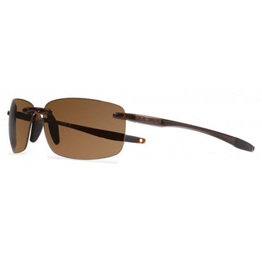 Revo Unisex Descend N Rectangle Sunglasses Terra Lens with Crystal Brown Frame