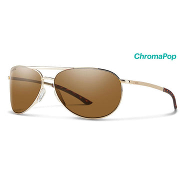 Smith Optics Serpico Slim 2 Sunglasses Chromapop Polarized Brown - Gold Frame