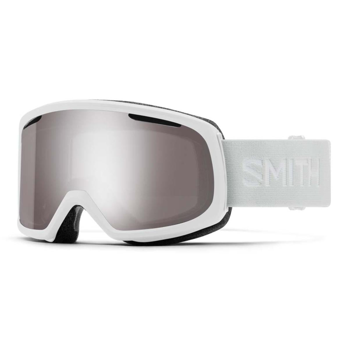 Smith Optics Riot Goggles Chromapop Sun Platinum Mirror - White Vapor Frame