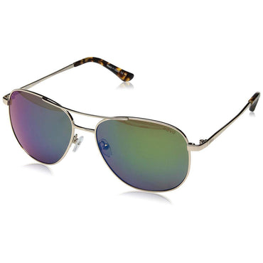 Revo Women's Maxie Navigator Sunglasses Green Water Lens with Gold Frame