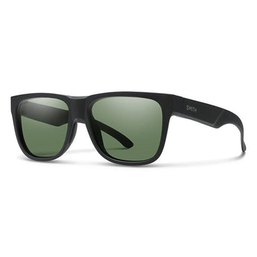 Smith Lowdown 2 Sunglasses Matte Black Chromapop Polarized Gray Green