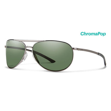 Smith Optics Serpico Slim 2 Sunglasses Chromapop Polarized Gray Green - Gunmetal Frame