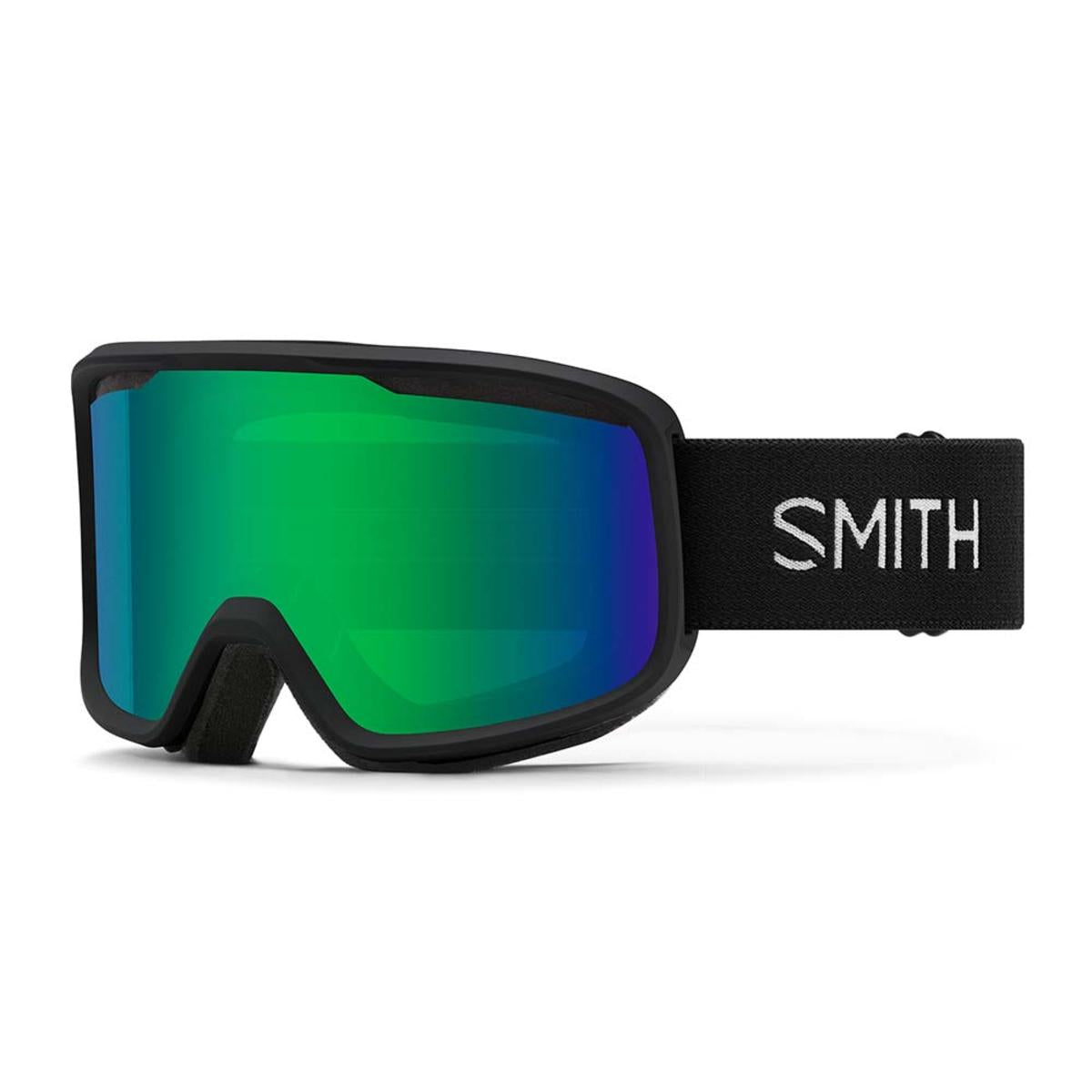 Smith Optics Frontier Goggles Green Sol-X Mirror - Black Frame