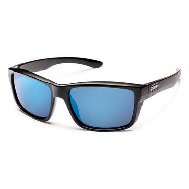 Suncloud Injection Mayor Polarized Blue Mirror Sunglasses - Black Frame