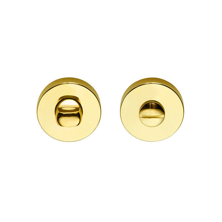 Locking Device - Round Bright Brass