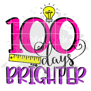 100 Days Brighter SVG