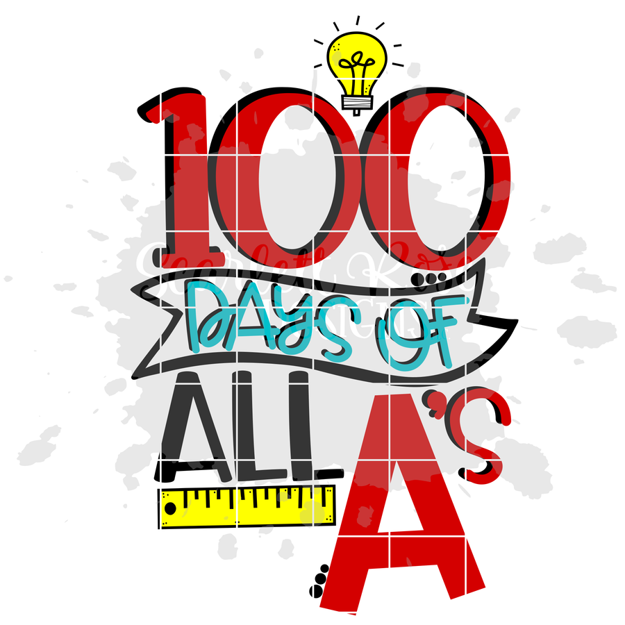 100 Days of All A's SVG