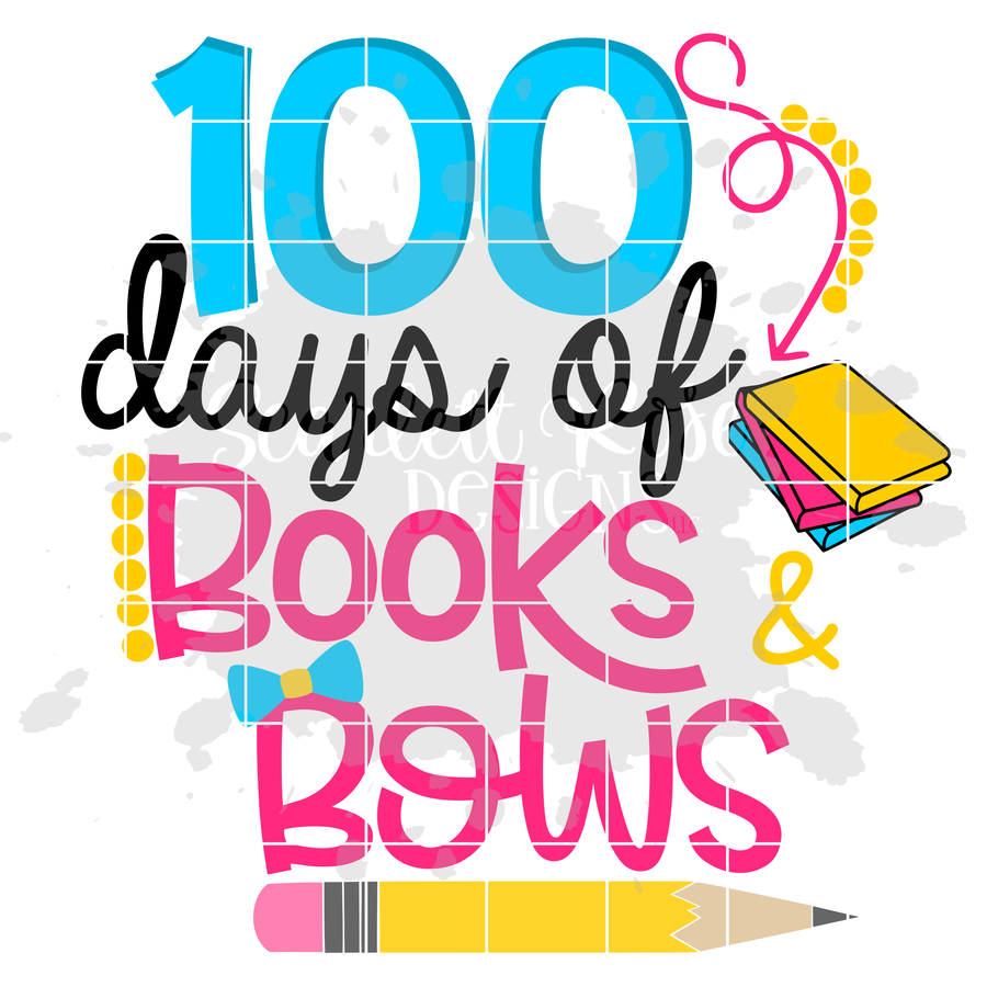 100 Days of Books and Bows SVG