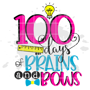 100 Days of Brains and Bows SVG