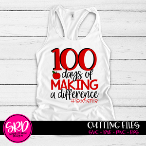 100 Days of Making a Difference SVG