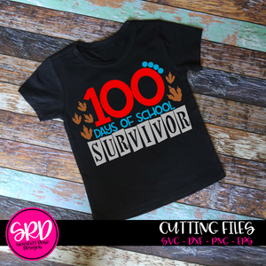 100th Day of School Survivor SVG