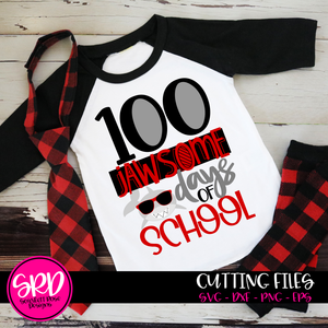 100 Jawsome Days of School SVG