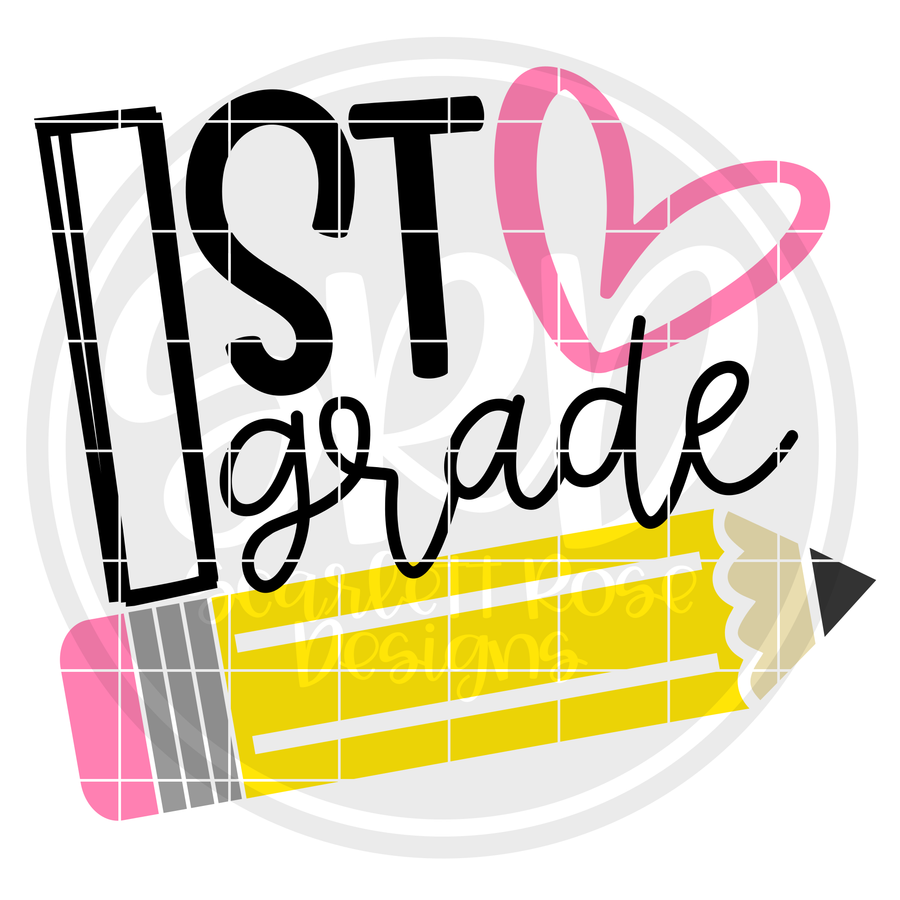 1st Grade SVG - Pencil