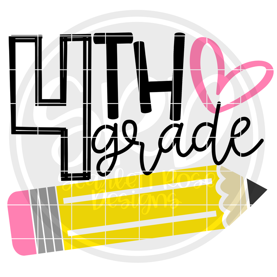 4th Grade SVG - Pencil