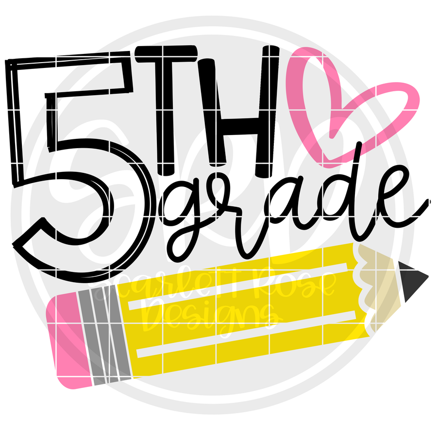 5th Grade SVG - Pencil