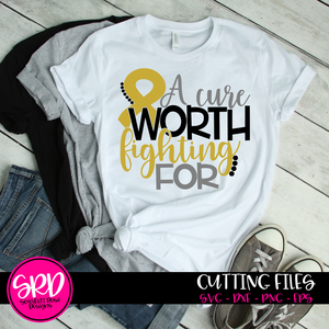 Childhood Cancer, A Cure Worth Fighting For, Cancer SVG