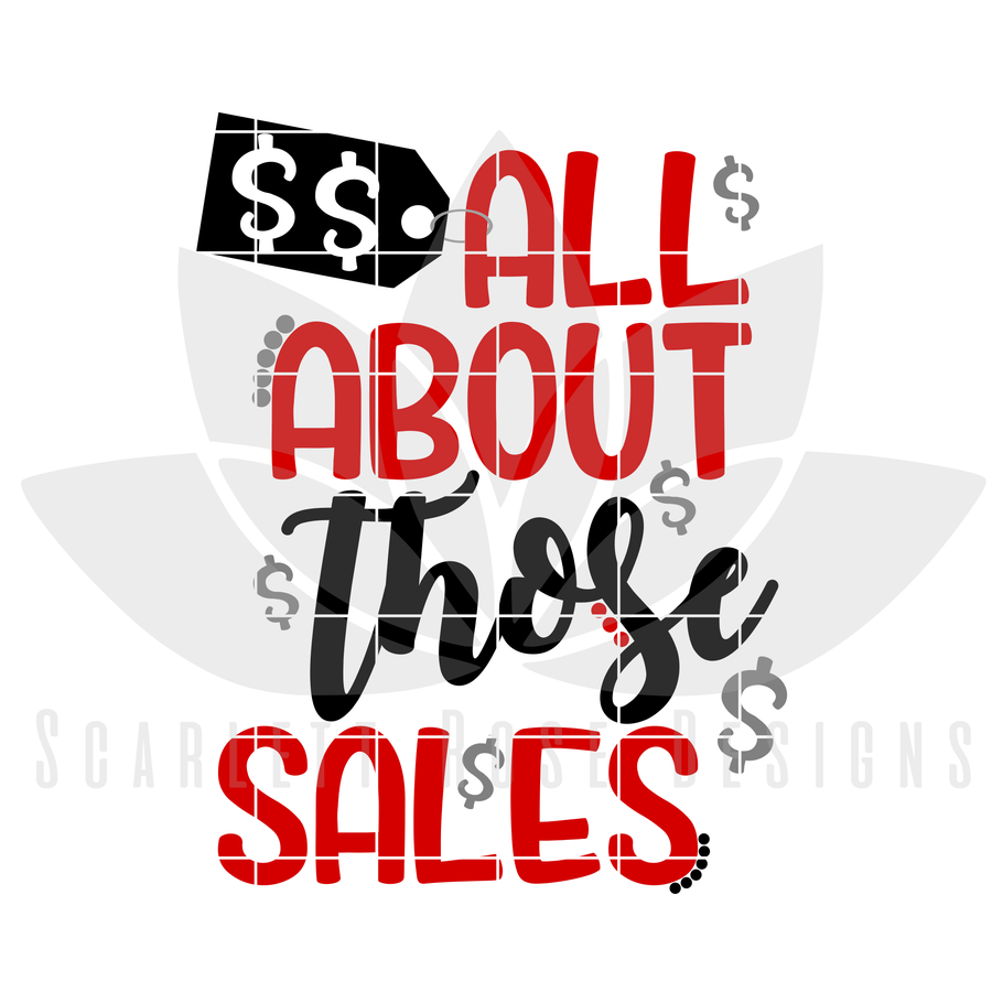 All About Those Sales, SVG cut file