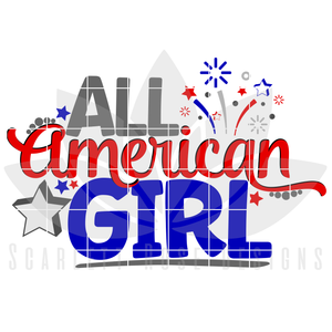 All American Girl SVG cut file