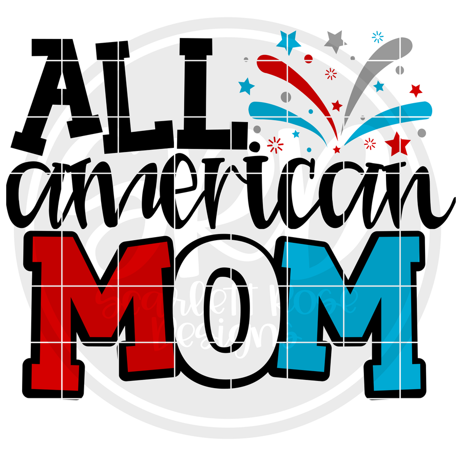 All American Mom SVG - 2019