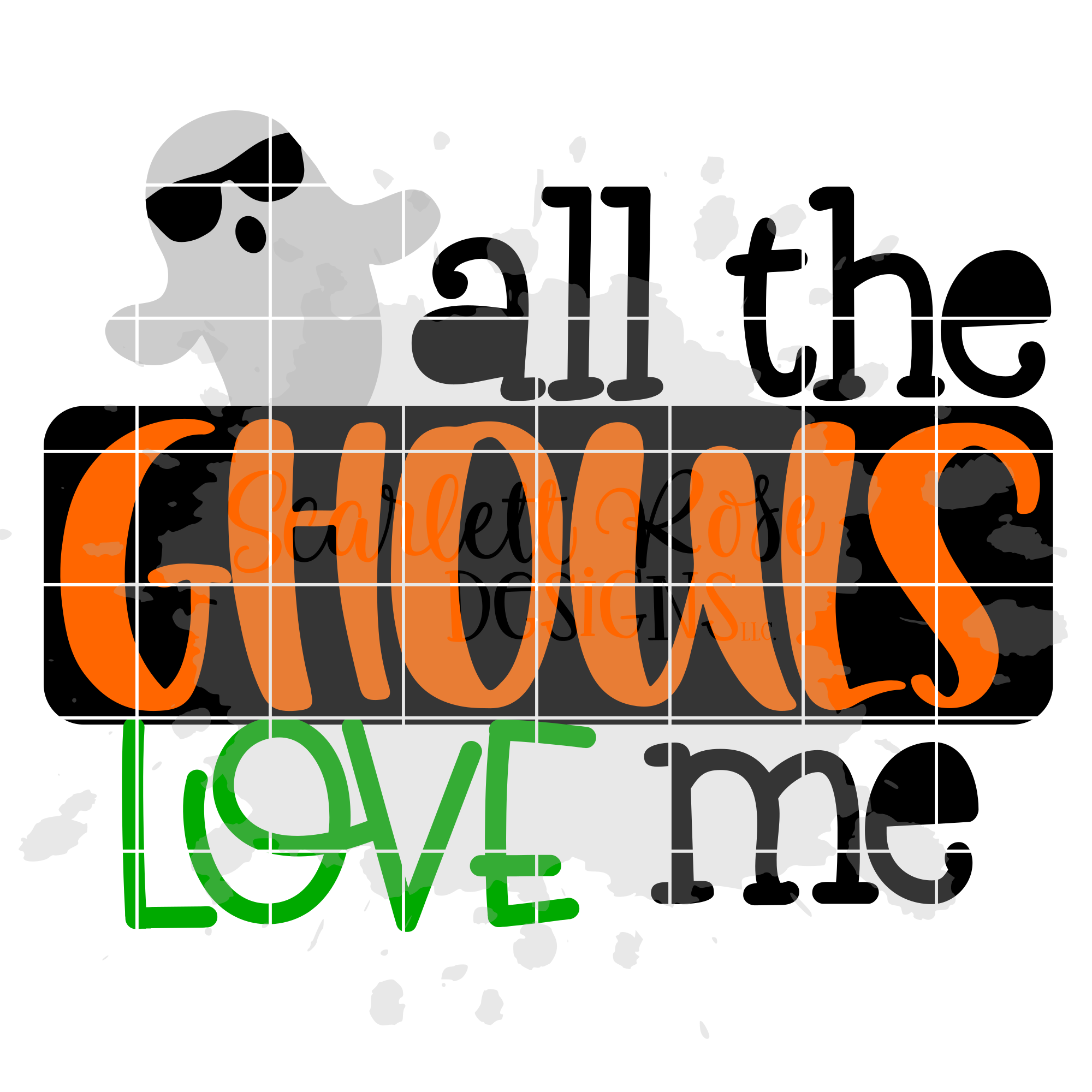 Halloween Svg All The Ghouls Love Me Svg Scarlett Rose Designs