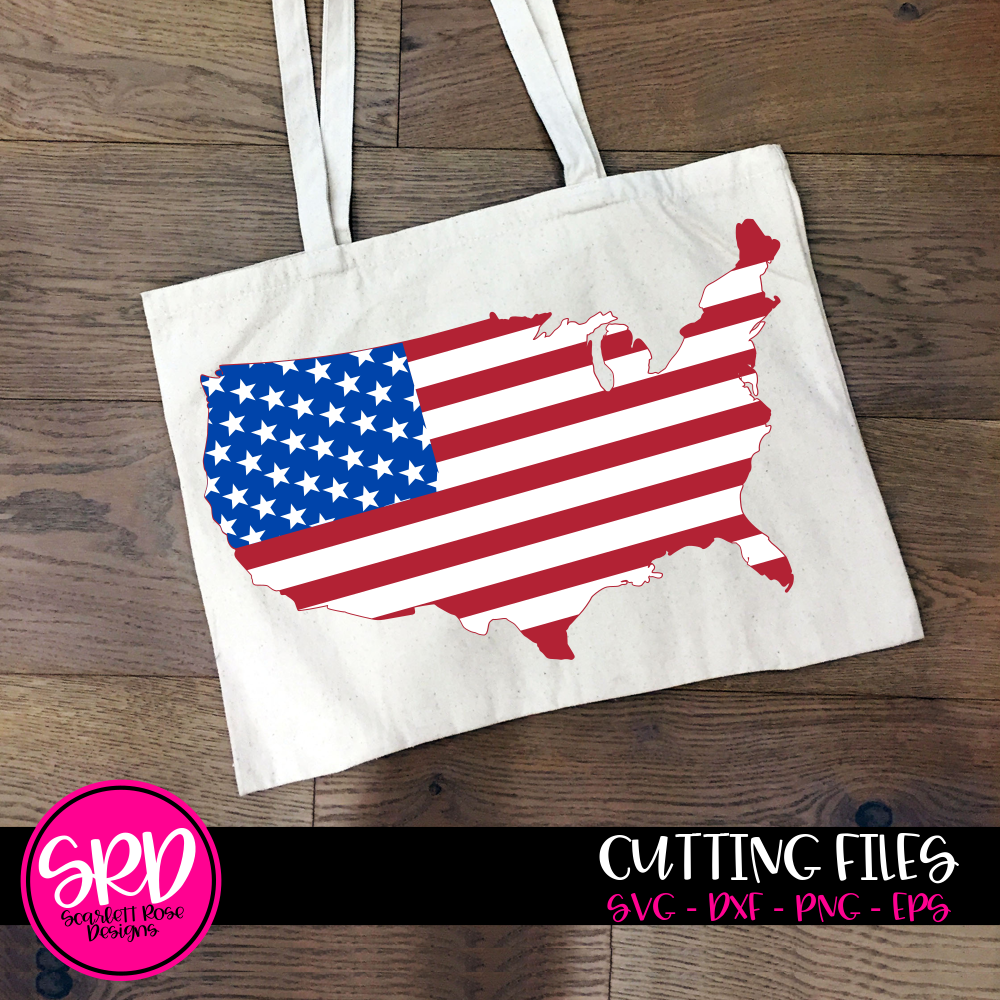Fourth Of July Svg Usa American Flag Svg Scarlett Rose Designs