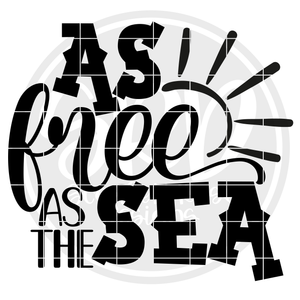 As Free as the Sea SVG