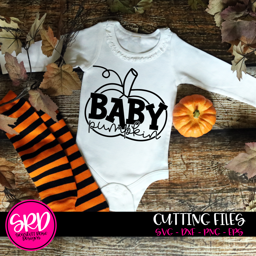 Baby Pumpkin - Black SVG