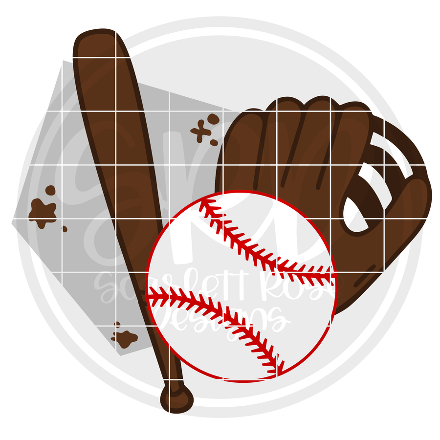 Baseball Gear SVG