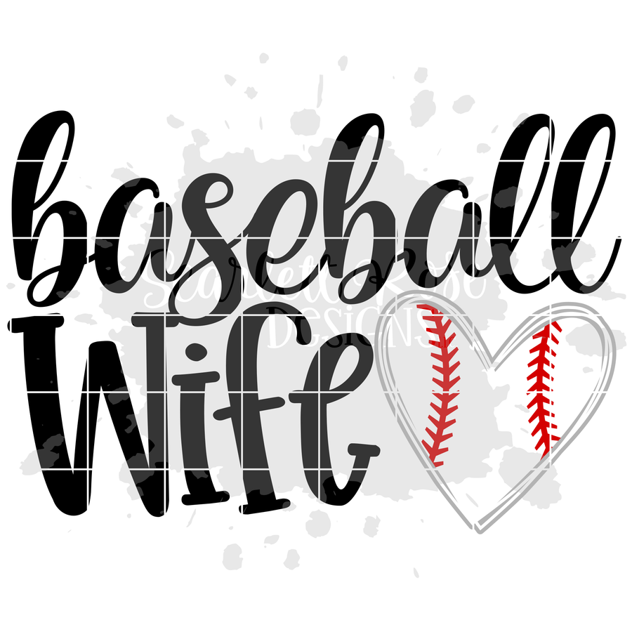 Baseball Wife SVG
