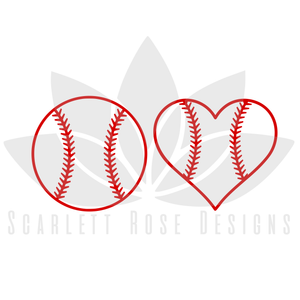 Baseball and Baseball Heart SVG cut file, Baseball Lace Pattern, SVG, EPS, PNG