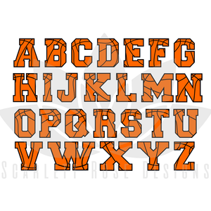 Basketball Font Letters SVG cut file, Sports Font SVG, EPS, PNG