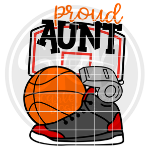 Basketball Gear - Proud Aunt SVG