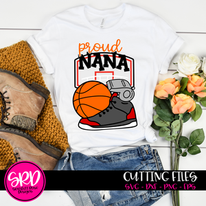 Basketball Gear - Proud Nana SVG