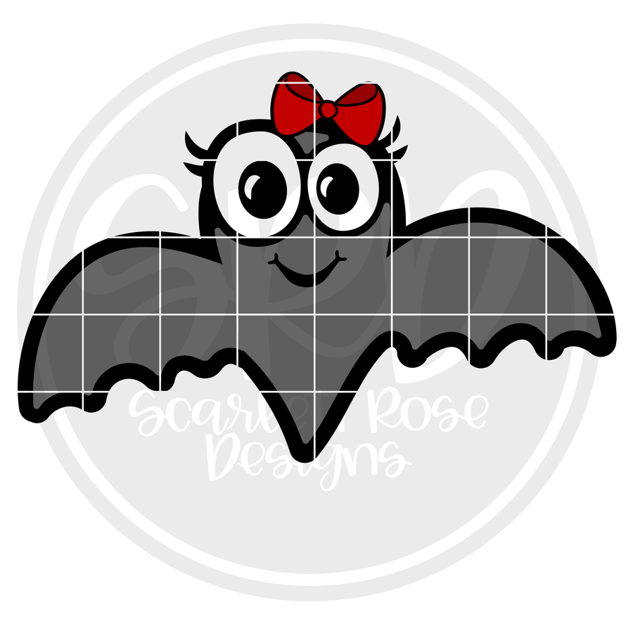 Bat - Girl SVG