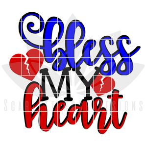 CHD Awareness, Bless My Heart SVG
