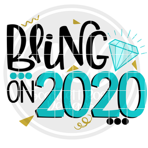 Bling on 2020 SVG