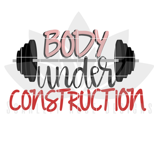 Body Under Construction, SVG cut file
