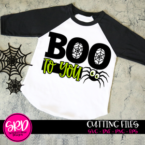 Boo To You - Spider SVG