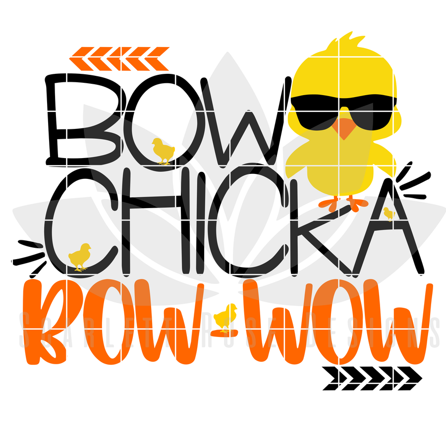 Easter SVG, Bow Chicka Bow Wow cut file