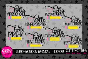 Hello School SVG Bundle - Color