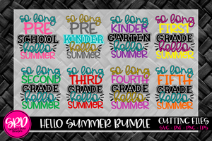 So Long School Hello Summer SVG Bundle