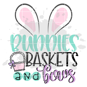 Bunnies Baskets and Bows SVG