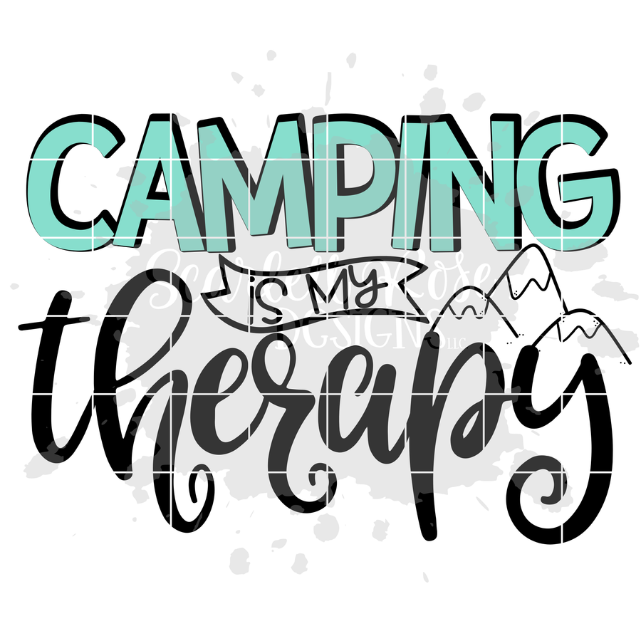 Camping Is My Therapy SVG