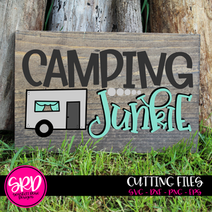 Camping Junkie SVG