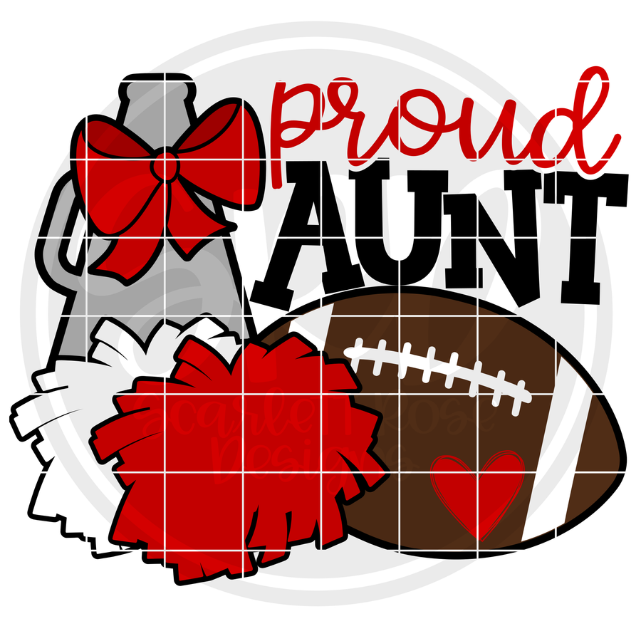 Cheer Football Gear - Proud Aunt SVG
