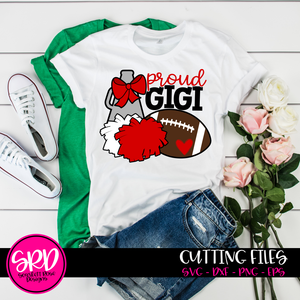 Cheer Football Gear - Proud Gigi SVG