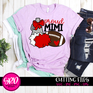 Cheer Football Gear - Proud Mimi SVG