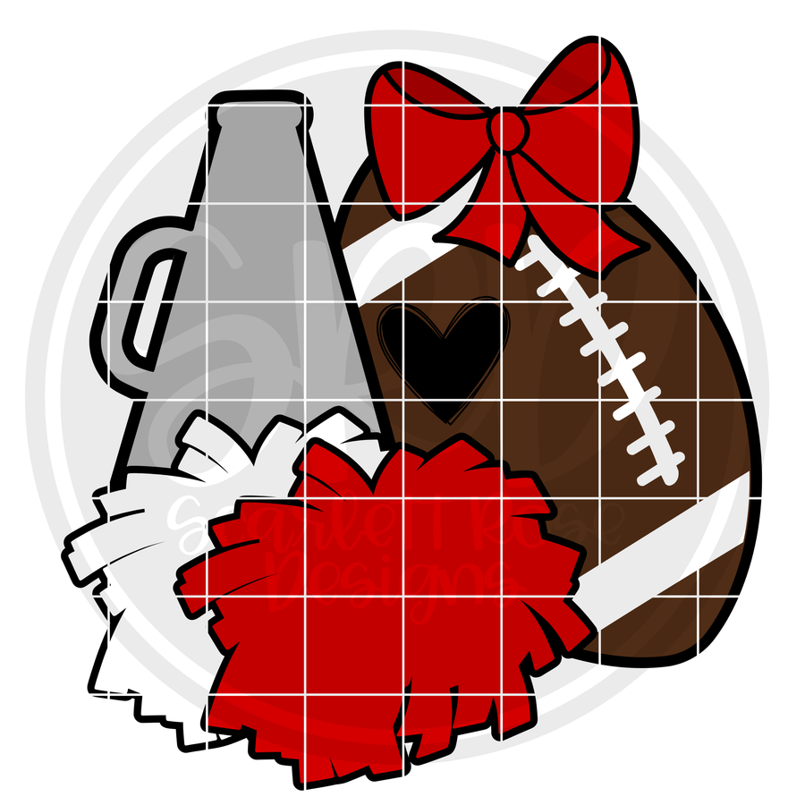 Cheer Football Gear SVG
